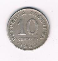 10 CENTAVOS 1952 ARGENTINIE /8450/ - Argentinië