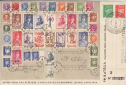 LETTRE. 21 AVRIL 1944. PETAIN SOUS TOUTES SES FORMES. AMICALE DE CHATILLON-SOUS-BAILLEUX SEINE - 1921-1960: Moderne