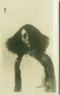 SOMALIA - FOTO F. ZANINI - YOUNG WOMAN - RPPC POSTCARD 1910s (5480) - Somalië