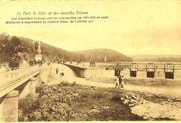 CPA - Belgique - La Gileppe - Le Pont, Le Lion Et Les Nouvelles Ecluses - Gileppe (Barrage)