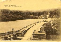 CPA - Belgique - Barrage De La Gileppe - Le Tablier, Le Lion Et Le Lac - Gileppe (Barrage)
