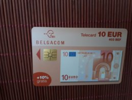 Banknote Phonecard 10 Euro DH 31/12/2004 Low Number 000839 Used Rare - Belgique