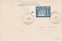ALSACE-LORRAINE 1940 LETTRE DE BOUZONVILLE - Elzas-Lotharingen