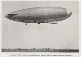 ". PHOTO DE PRESSE  18  Cm X 13  Cm    Le Dirigeable "" ITALIA""  GENERAL NOBILE. - 1919-1938: Between Wars"