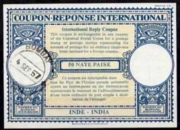 INDE / INDIA Lo16n 50 NAYE PAISEInternational Reply Coupon Reponse Antwortschein IRC IAS o BOMBAY 4.9.57 - Sin Clasificación