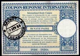 INDE / INDIA Lo16n 50 NAYE PAISEInternational Reply Coupon Reponse Antwortschein IRC IAS o RAJKOT 19.9.58 - Sin Clasificación