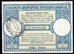 INDE / INDIA Lo17 63 NAYE PAISEInternational Reply Coupon Reponse Antwortschein IRC IAS o 24.4.63 - Sin Clasificación