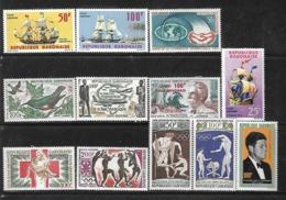 C 71 Gabon Après Indépendance Lot De 12 Timbres De PA N+ - Gabon (1960-...)