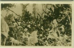 SOMALIA - FOTO F. ZANINI - OUTDOOR MEETING - RPPC POSTCARD 1910s (5484) - Somalië