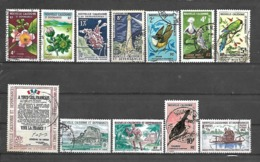 C 59 Nouvelle Calédonie Lot De 12 Timbres Entre N°317 Et 352 Obl - Gabon (1960-...)