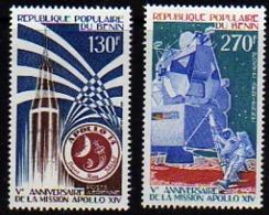 Bénin PA  N°  258 / 59 XX  5ème Anniversaire De La Mission Apollo XIV. Les 2 Valeurs Sans Charnière, TB - Benin - Dahomey (1960-...)