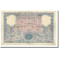 France, 100 Francs, Bleu Et Rose, 1900-06-05, TTB, Fayette:21.13, KM:65b - 1871-1952 Anciens Francs Circulés Au XXème