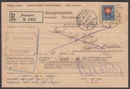 ZH   WAEDENSWIL / EINZUGSMANDAT MIT PJ 1921 HOECHSTWERT - Pro Juventute