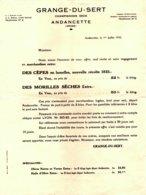 GRANGE DU SERT   Tarif Champignons Secs   ANDANCETTE (Drome)   Morilles, Cepes  1935 - 1900 – 1949