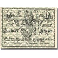 Billet, Autriche, Steegen, 20 Heller, Blason 1, 1920-04-11, SPL Mehl:FS 1012Ia - Austria