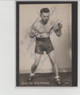 .BOXING.BOKSEN. PHOTO.Le Matin   CPA    BOXEUR  JEAN LE BALANGER 1945   SIGNEE - Boxing