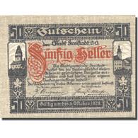 Billet, Autriche, Freistadt, 50 Heller, Château, 1920-10-31, SPL, Mehl:FS 212a - Austria