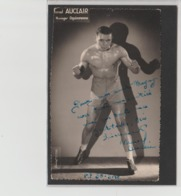 .BOXING.BOKSEN. PHOTO. Lansival   BOXEUR  Marcel AUCLAIR   MANAG. Oquinarenne   SIGNEE - Boxing