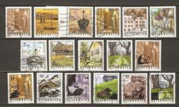 Autriche 2002/5 - Scènes Autrichiennes - Petit Lot De 17 Timbres° Dont 7 Surchargés - Vin - Vache - Bateau - Vienne - Lots & Kiloware (max. 999 Stück)
