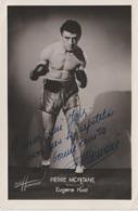 .BOXING.BOKSEN. PHOTO. HARCOURT    10cm  X  15cm       BOXEUR  PIERRE MONTANE    SIGNEE - Boxing