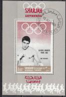 Bf. 514A Sharjah 1968 Pugilato Boxing Nino Benvenuti Nuovo Preoblt. Perforato. Olimpiadi Roma 1960 - Sharjah
