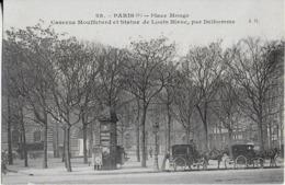 PARIS  (5eme )  Place MONGe - Caserne Mouffetard  Et Statue De Louis Bllanc - Trasporto Pubblico Stradale