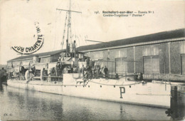 "CPA 17 Charente Maritime Inférieure Rochefort Sur Mer Bassin No 3 Contre Torpilleur ""Perrier"" Militaria - Rochefort"