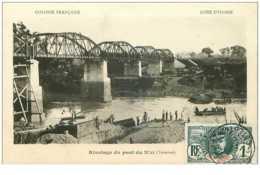 Cote D Ivoire. N°35386.rivetage Du Pont Du N' Zi.terminé - Côte-d'Ivoire