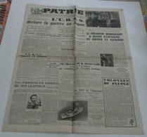 Journal Patrie Du 10 Août 1945 (Joliot Curie-Niels Bohr-Sir James Chadwick) - Riviste & Giornali