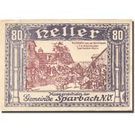 Billet, Autriche, Sparbach, 80 Heller, Village 1, SUP Violet Mehl:FS 1006a - Austria