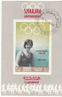 Bf. 516 Sharjah 1968 Nuoto Dawn Fraser Oro Nuovo Preoblt. Perforato. Olimpiadi Tokio 1964 - Sharjah