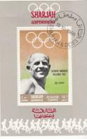 Sharjah 1968 Bf. 512 Atletica Maratona Emil Zatopek Oro Nuovo Preoblt. Perforato. Olimpiadi Helsinki 1952 - Sharjah