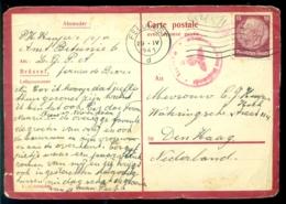Deutschland 1941 Postkarte Nach Holland Datumsstempel Unterscheidet Sich Von Der Rückseite - Allemagne