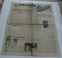 Journal Patrie Du 9 Août 1945(bombe Atomique-Nos Soldats à La Montagne). - Riviste & Giornali