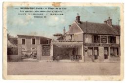 CPA   77      BOIS LE ROI     1937     PLACE DE LA CITE   -   HOTEL   CAFE DE LA CITE  -   AUBERGE MAISON MARZET - Bois Le Roi