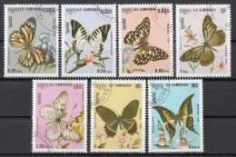 Cambogia 1986 Sc. 691-97  Farfalle Butterfly Papillons Mariposas - FULL SET CTO Cambodia Cambodge - Cambogia