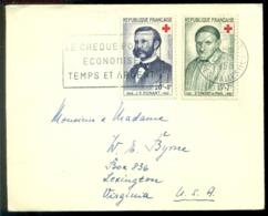 France 1958 Enveloppe Avec Mi 1224-1225 Croix Rouge - France