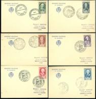 France 1950 Cartes Postales (6) Série Célébrités Du XVIII ème Siècle Mi 871-876 - Cartas