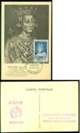France 1954 Carte Maximum Célébrités Saint-Louis (Louis IX) Mi 1015 - Maximum Cards