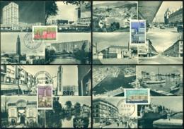 France 1958 Cartes Maximum (4) Les Ville De France Mi 1188-1191 - 1950-59