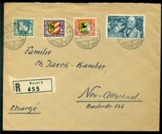 Schweiz 1931 Eingeschrieben Brief Nach Neu-Allschwil Mit Mi Serie Pro Juventute 241-244 - Suisse