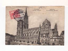 Sur CPA De Strasbourg Pour Fontenay Le Comte CAD Strassburg Els.1913 Sur Timbre Deutsches Reich. CAD Fontenay. (3372) - Alsazia Lorena