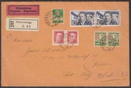 1927/28  SCHOENER EINSCHREIBBRIEF / SCHWARZENEGG BERN - BELGIEN - Pro Juventute