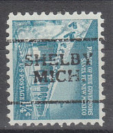 USA Precancel Vorausentwertung Preo, Locals Michigan, Shelby 701 - Vereinigte Staaten