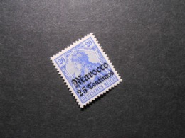 D.R.Mi 37a**MNH - Deutsche Auslandspostämter ( MAROKKO ) 1906 - Mi 60,00 € - Kabinettstück - Offices: Morocco