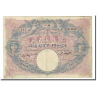 France, 50 Francs, Bleu Et Rose, 1899-07-05, TB, Fayette:14.11, KM:64b - 50 F 1889-1927 ''Bleu Et Rose''