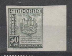 ANDORRA C. ESPAÑOL Nº 45 C. M. ABAD 49a SIN DENTAR BORDE DE HOJA SIN CHARNELA  MUY RARO.(S.2) - Andorra Española