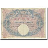 France, 50 Francs, Bleu Et Rose, 1898-06-04, B+, Fayette:14.10, KM:64b - 50 F 1889-1927 ''Bleu Et Rose''
