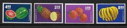 CHINE / FORMOSE - YVERT N° 478/481 ** - COTE = 100 EUR. - FRUITS - 1945-... Republic Of China