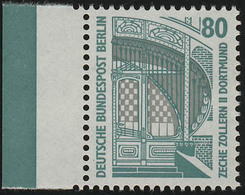 796 SWK 80 Pf Seitenrand Li. ** Postfrisch - [5] Berlin